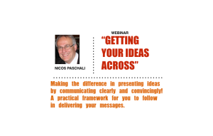 getting your ideas