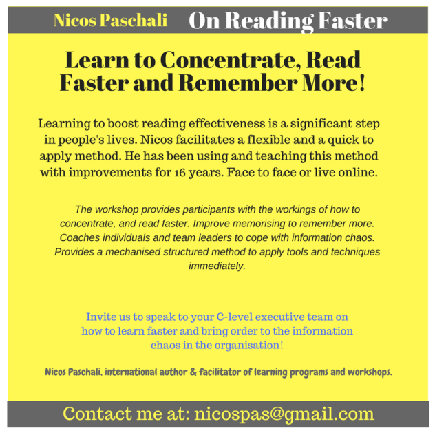 Nicos Paschali On Reading faster